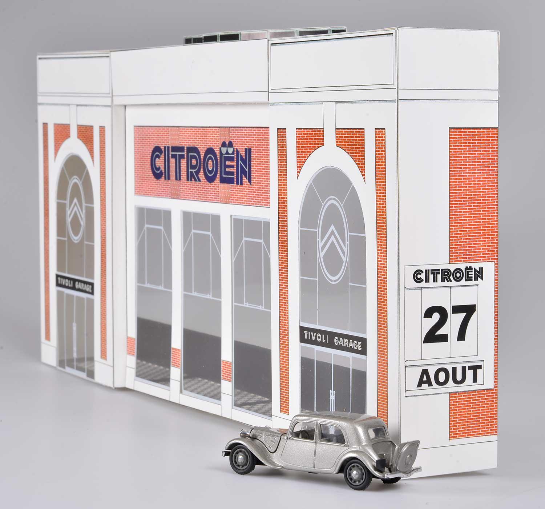 citroexpert citro n garage 39 tivoli 39 schaal 1 43. Black Bedroom Furniture Sets. Home Design Ideas