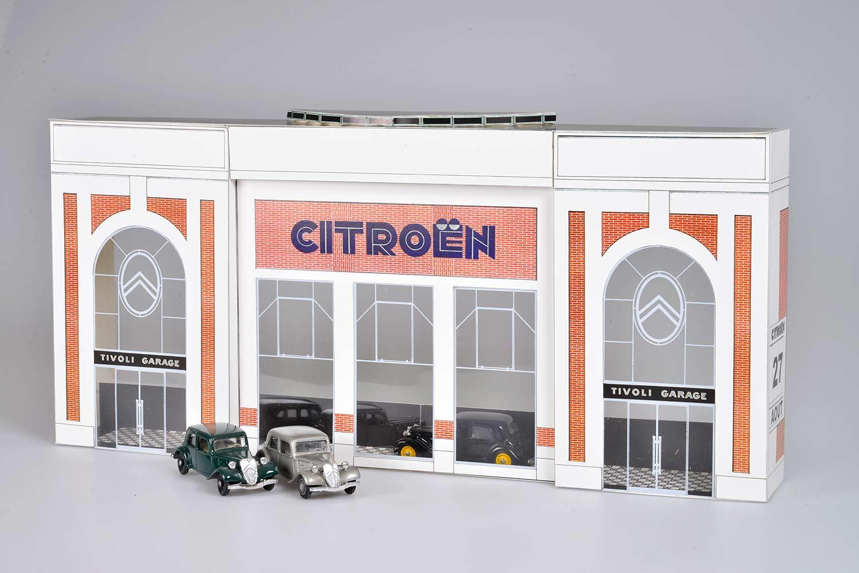 Citroexpert citro n garage 39 tivoli 39 schaal 1 43 - Garage miniature citroen ...