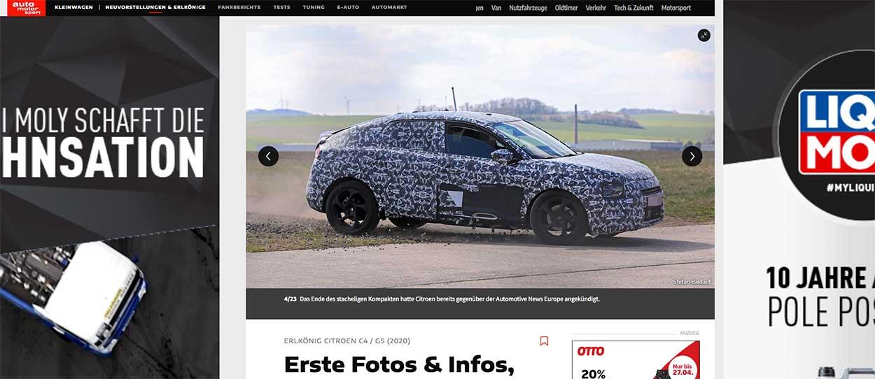 Website AMS met spionagefoto van © Stefan Baldauf